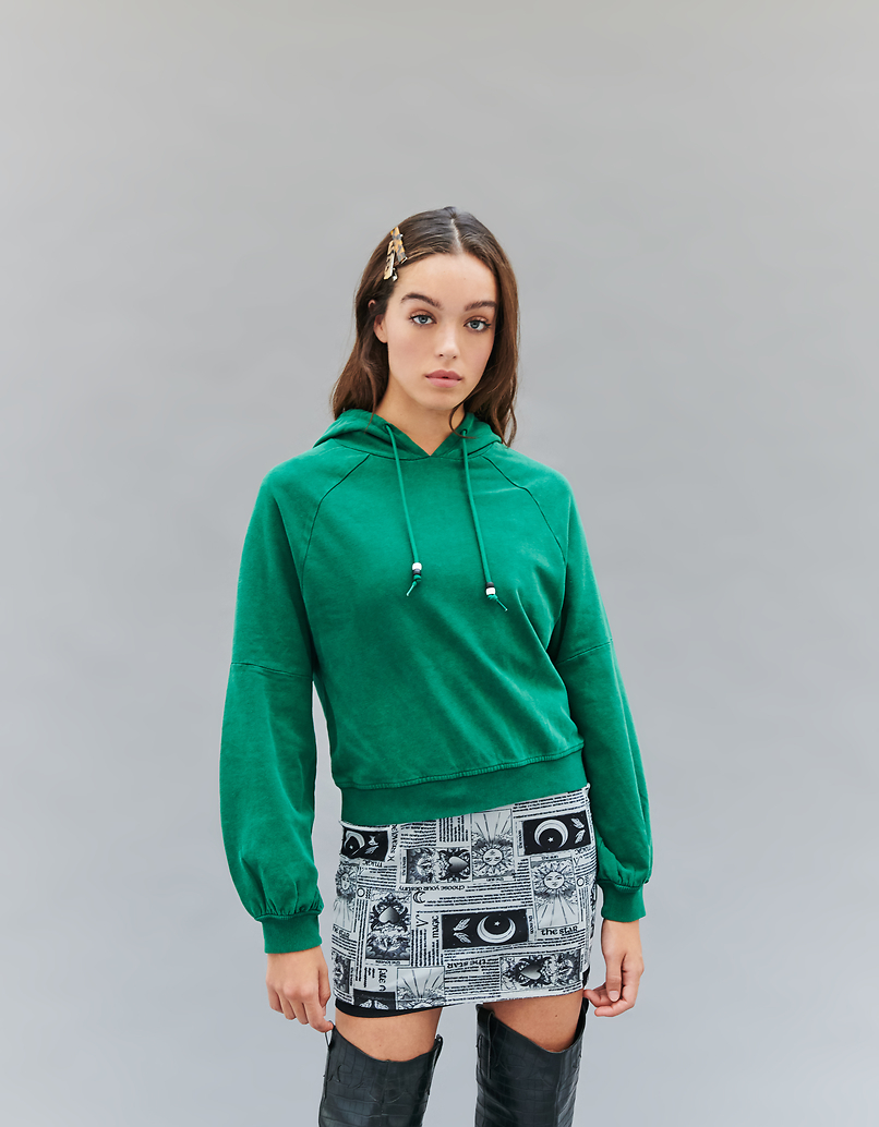 Green Acid Wash Sweatshirt