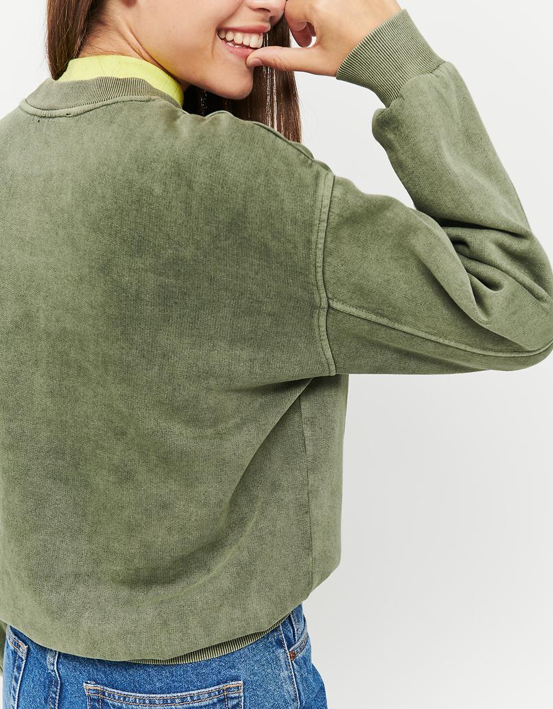 Green Acid Wash Sweatshirt