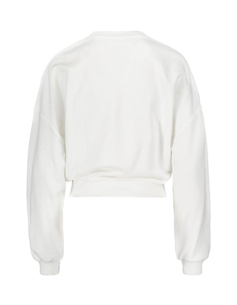 White Sweatshirt with Buckle