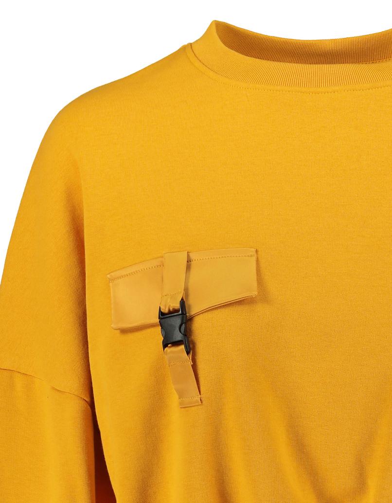 Ocher Sweatshirt with Buckle