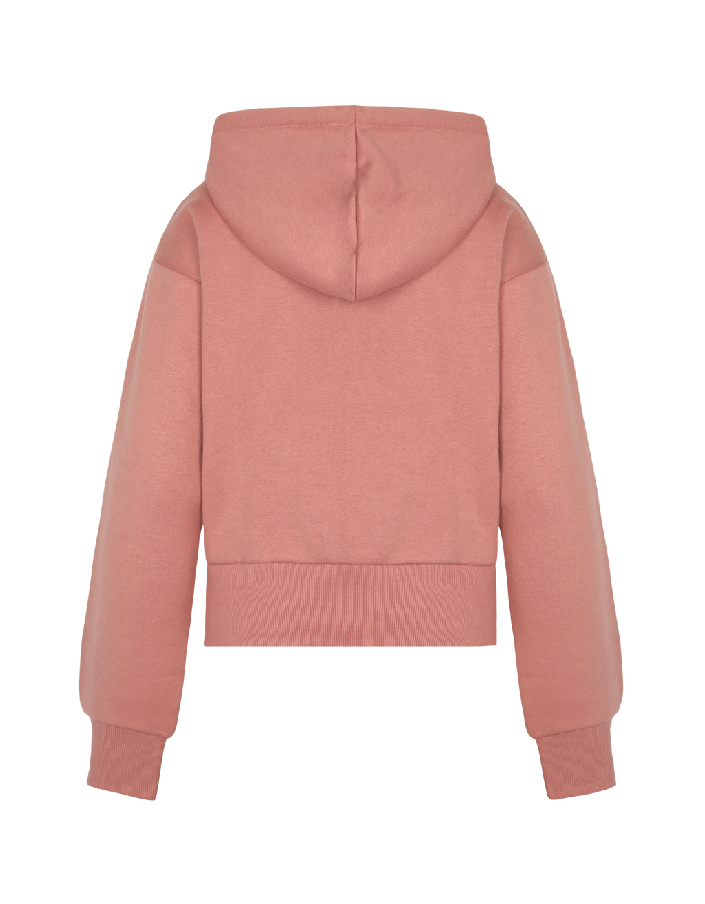 Sweat Rose Zippé à Capuche