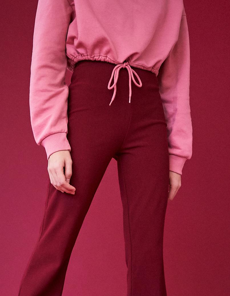 Różowa bluza ze ściągaczem