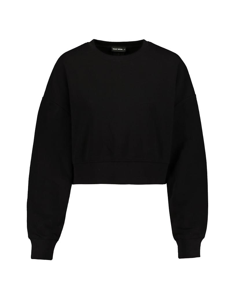 Black Sweatshirt with Back Zip