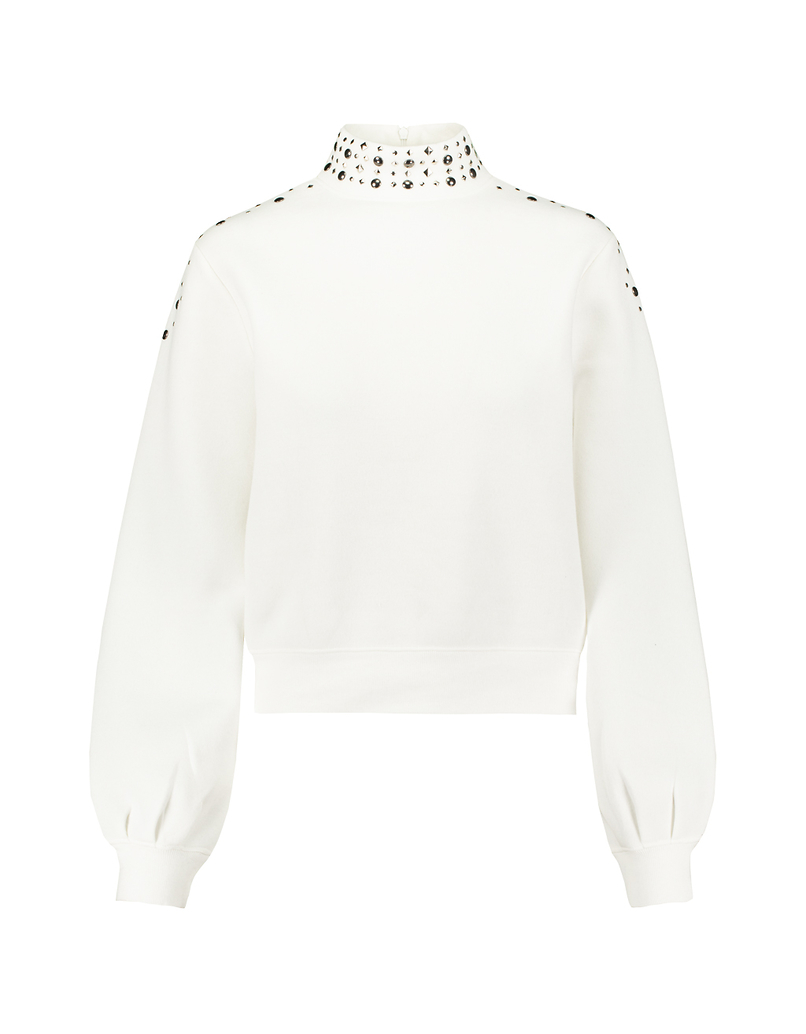 White Sweatshirt with Studs