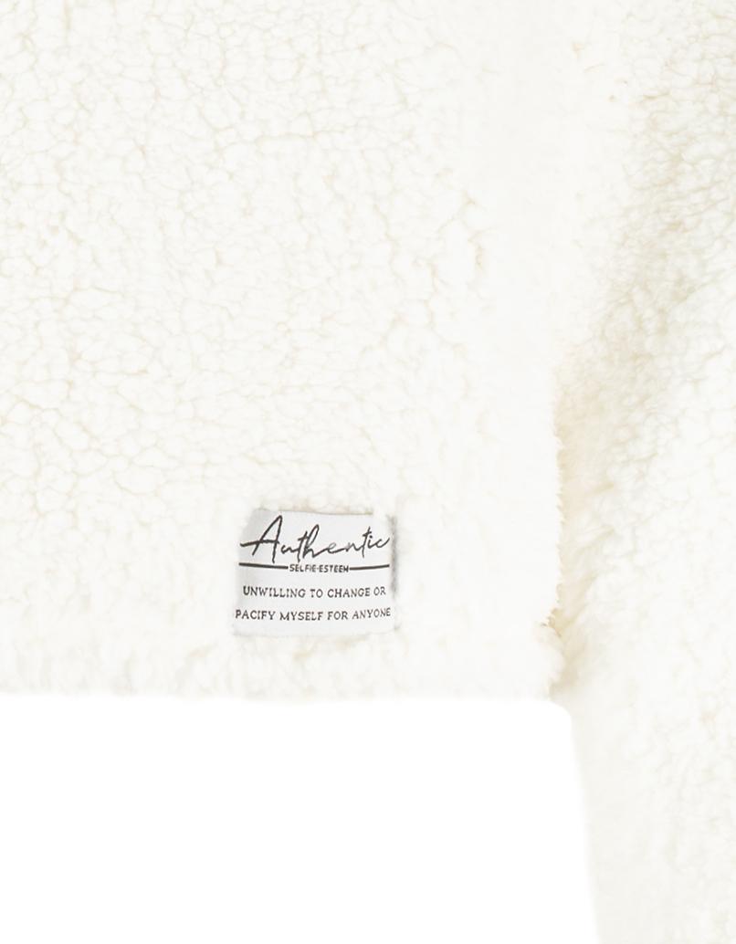 White Fluffy Sweatshirt