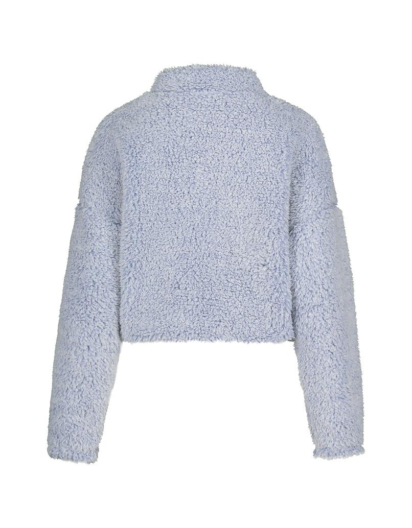 Blue Fluffy Sweatshirt