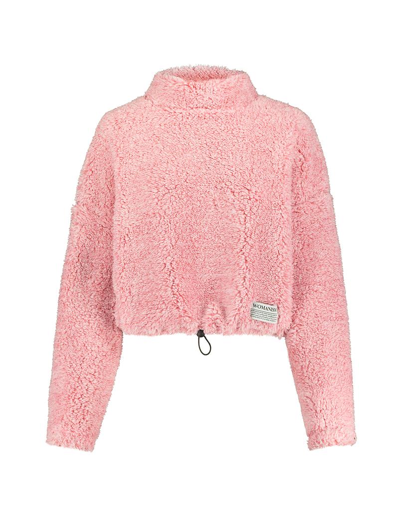 Różowa puszysta bluza