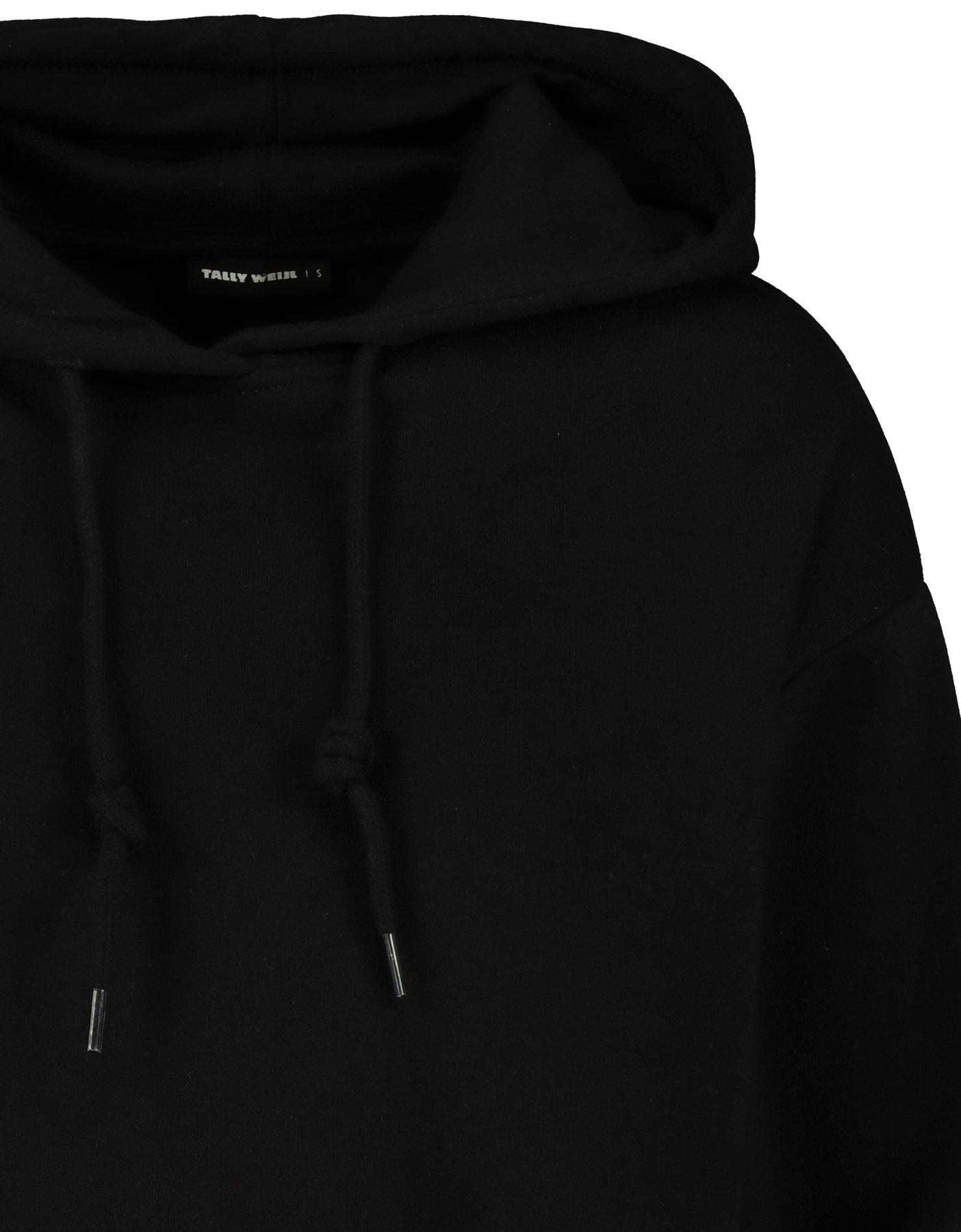 Schwarze, kurze Hoodie