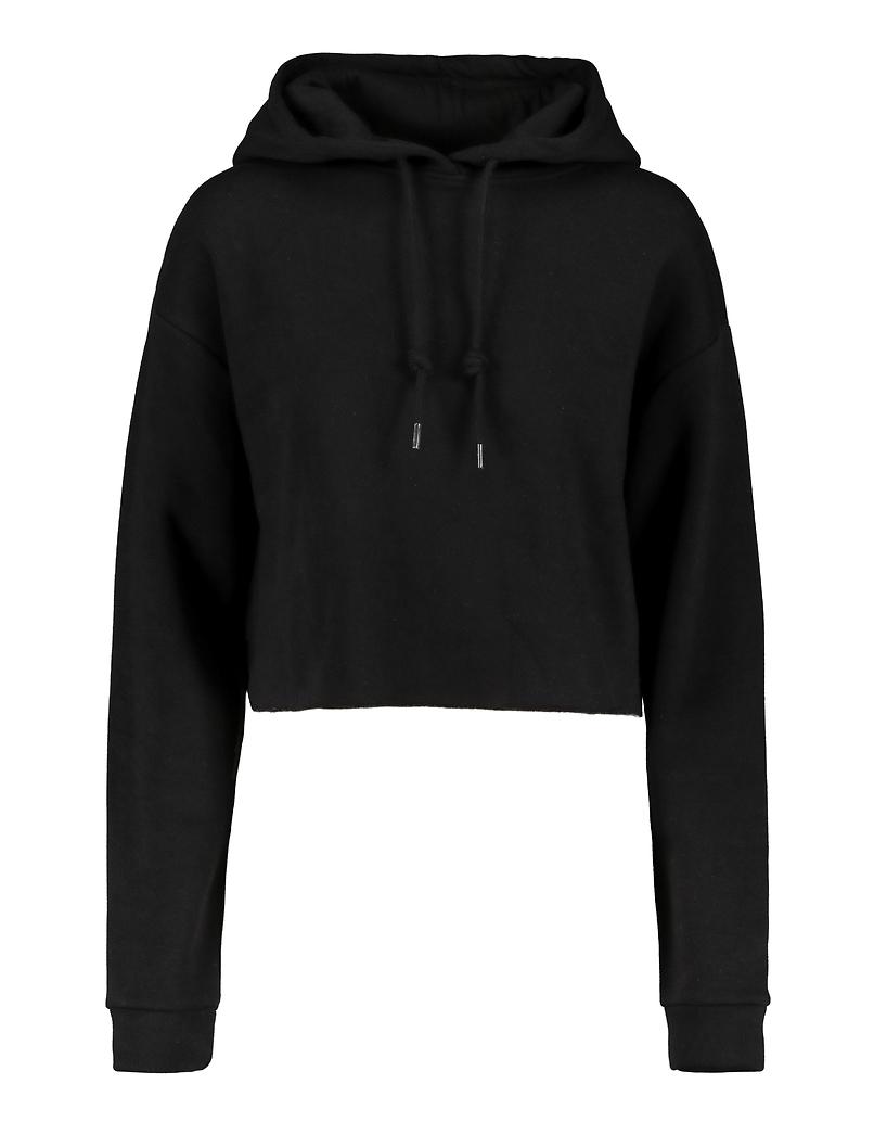 Black Cropped Hoodie
