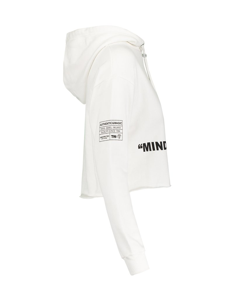 White Hoodie with Slogan