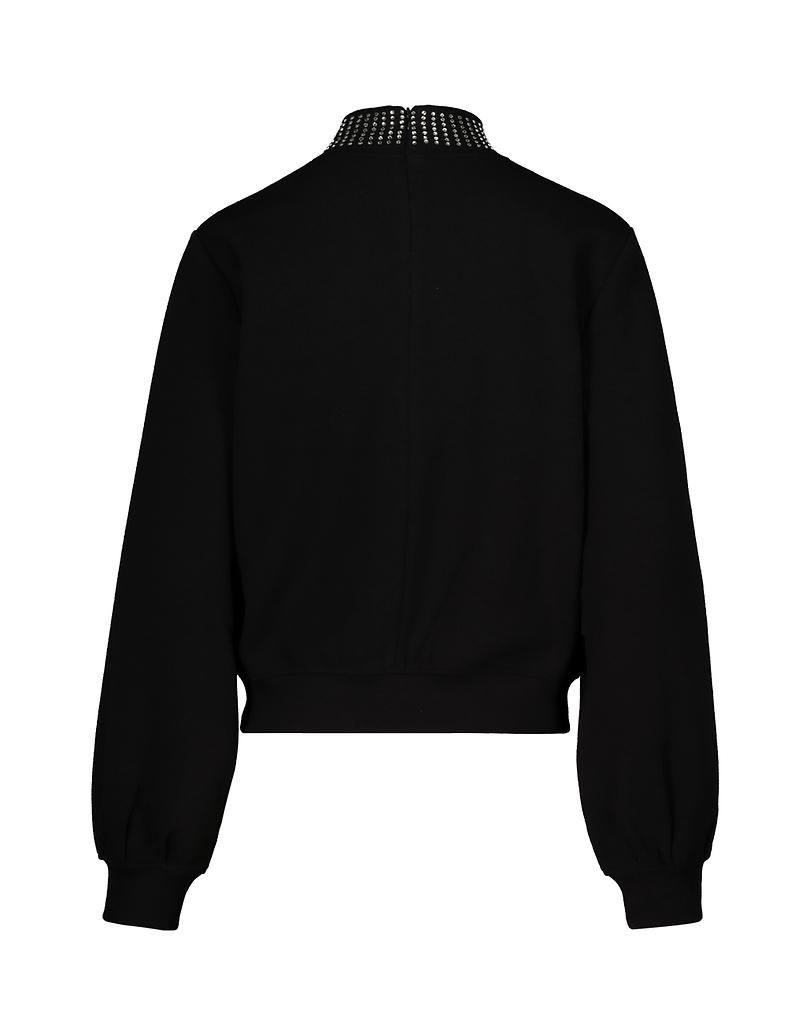 Black Sweatshirt with Strass