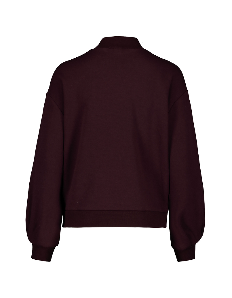 Burgundy Sweatshirt with Embroidery