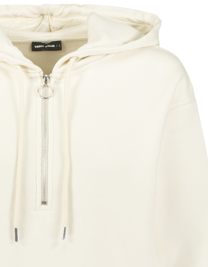 Sweat à Capuche Blanc avec Zip