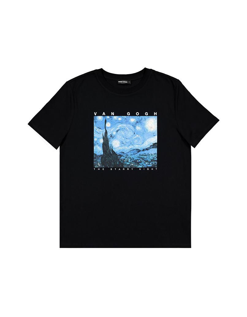 Schwarzes T-Shirt mit Aufdruck