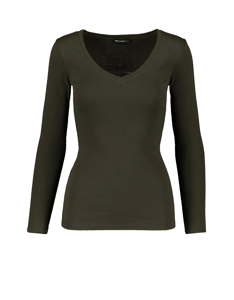 Khaki Basic Top
