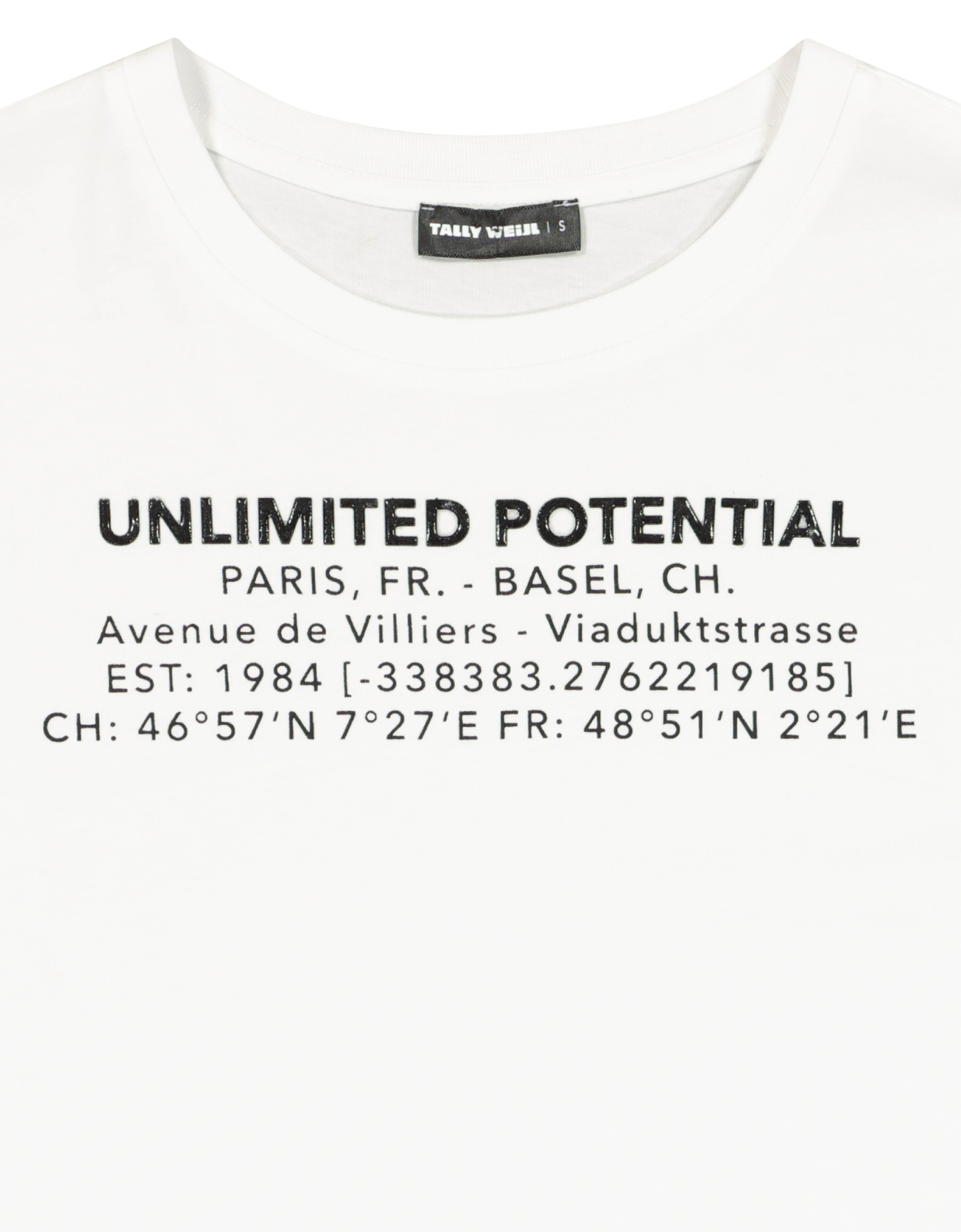 T-Shirt Blanc Imprimé