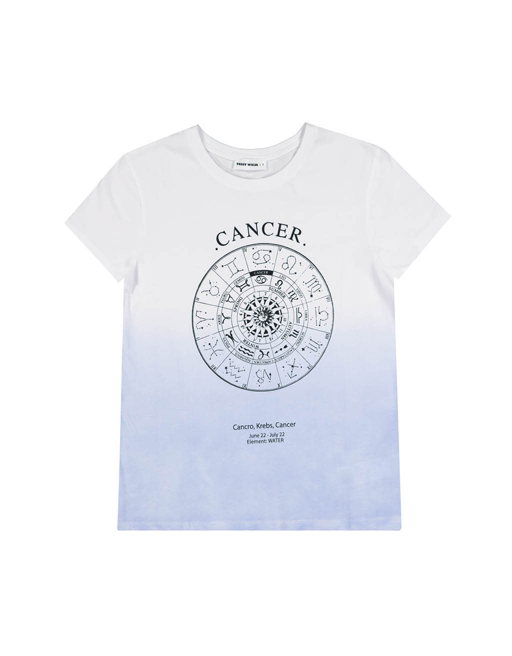 "T-shirt Bianca ""Cancro"""