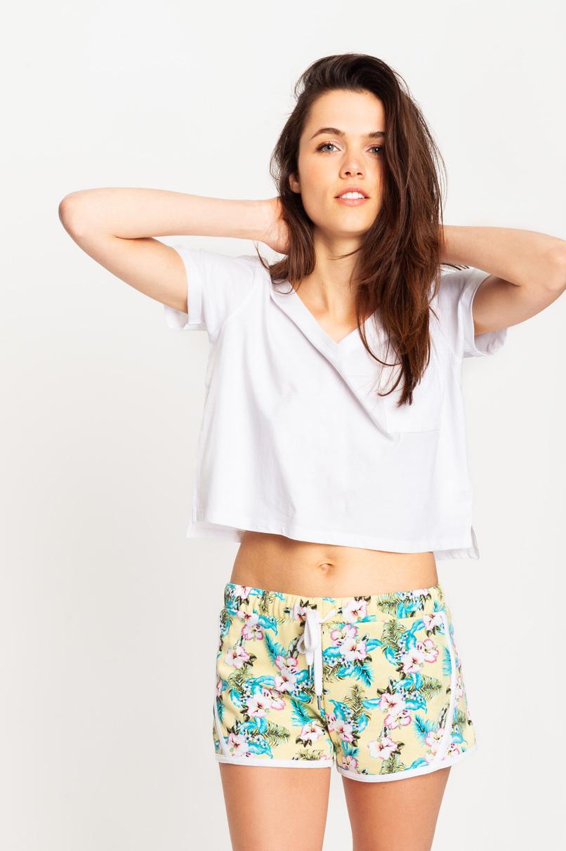 White Crop Top T-Shirt