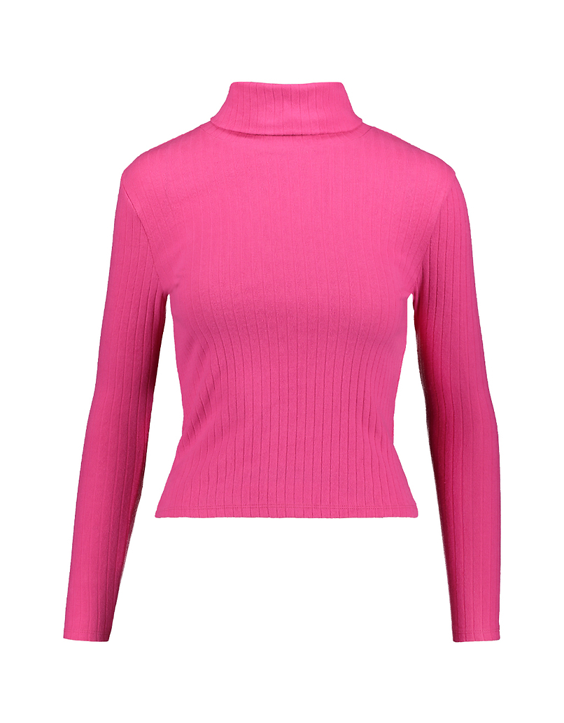 Top Col Montant Rose Fluo