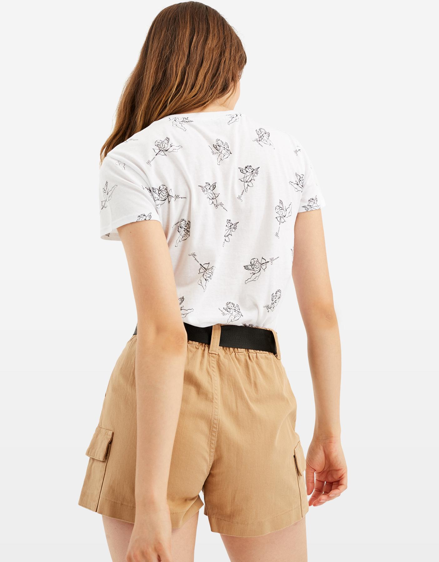 White Angel Print T-Shirt