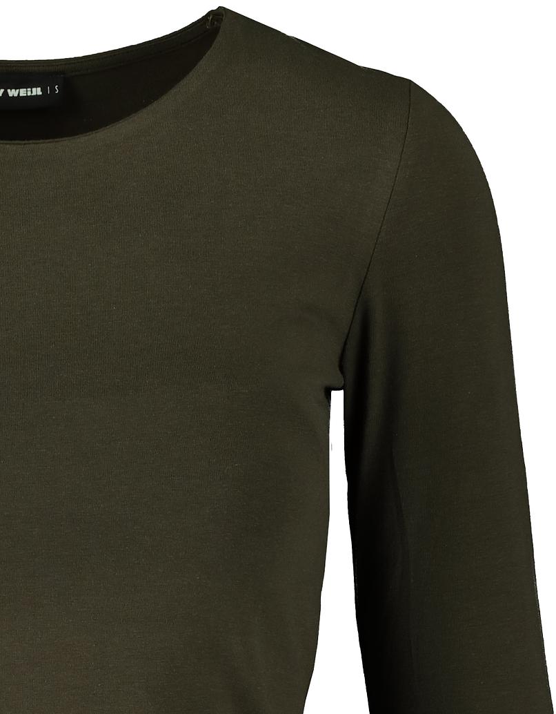 Khaki Long Sleeves Top