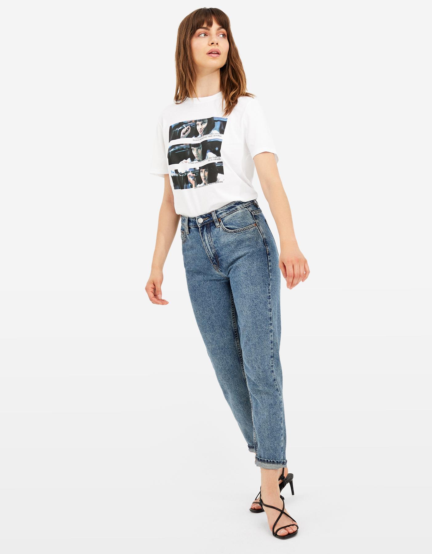 T-Shirt Blanc Pulp Fiction