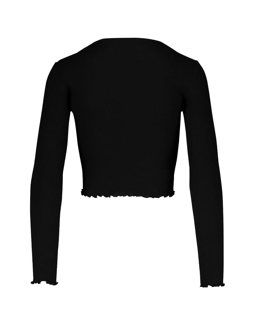 Schwarzes Top mit Knöpfen