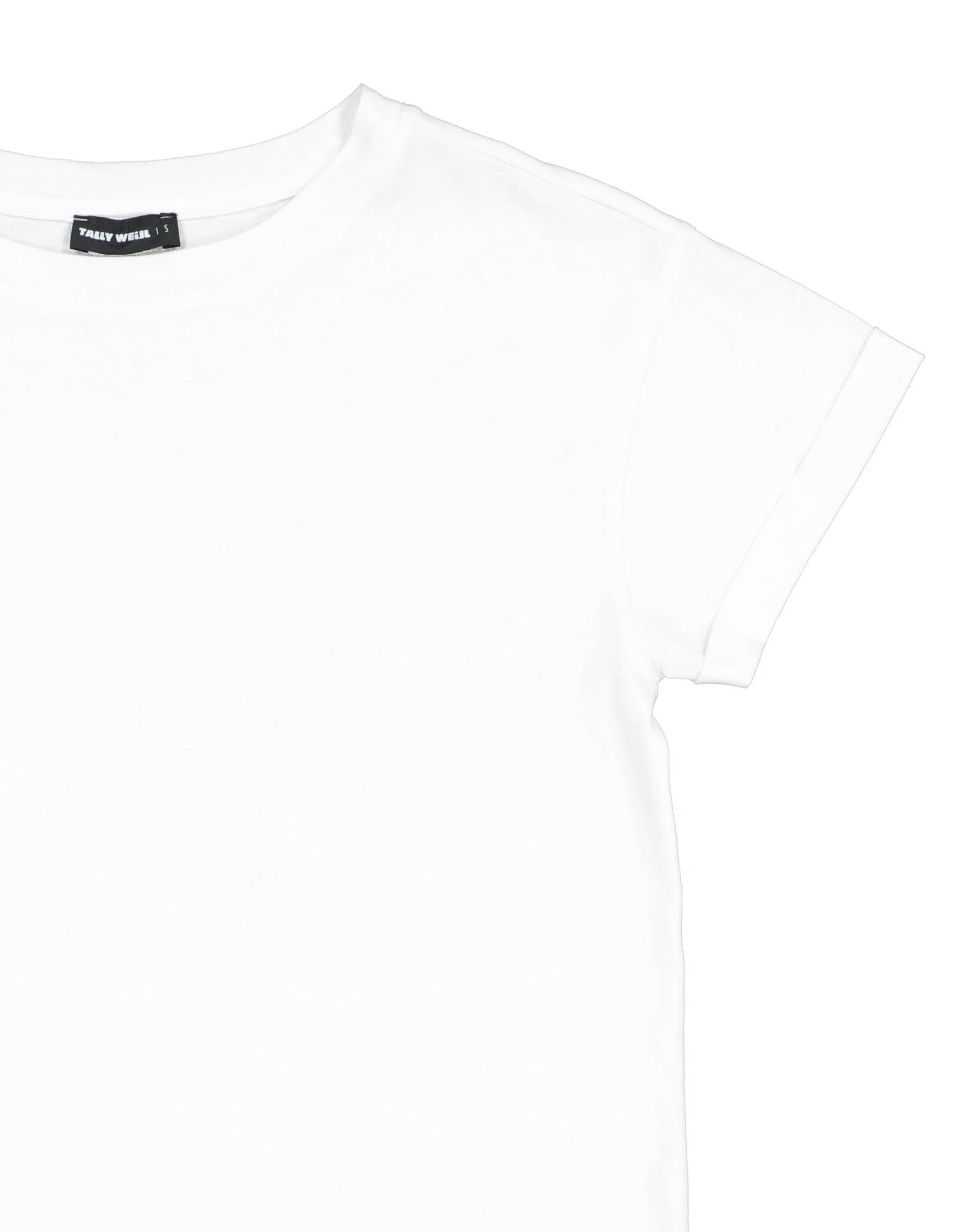 White Basic Short Sleeves Top