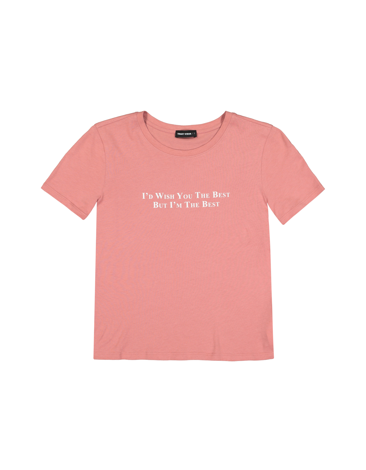 Pink T-Shirt with Slogan