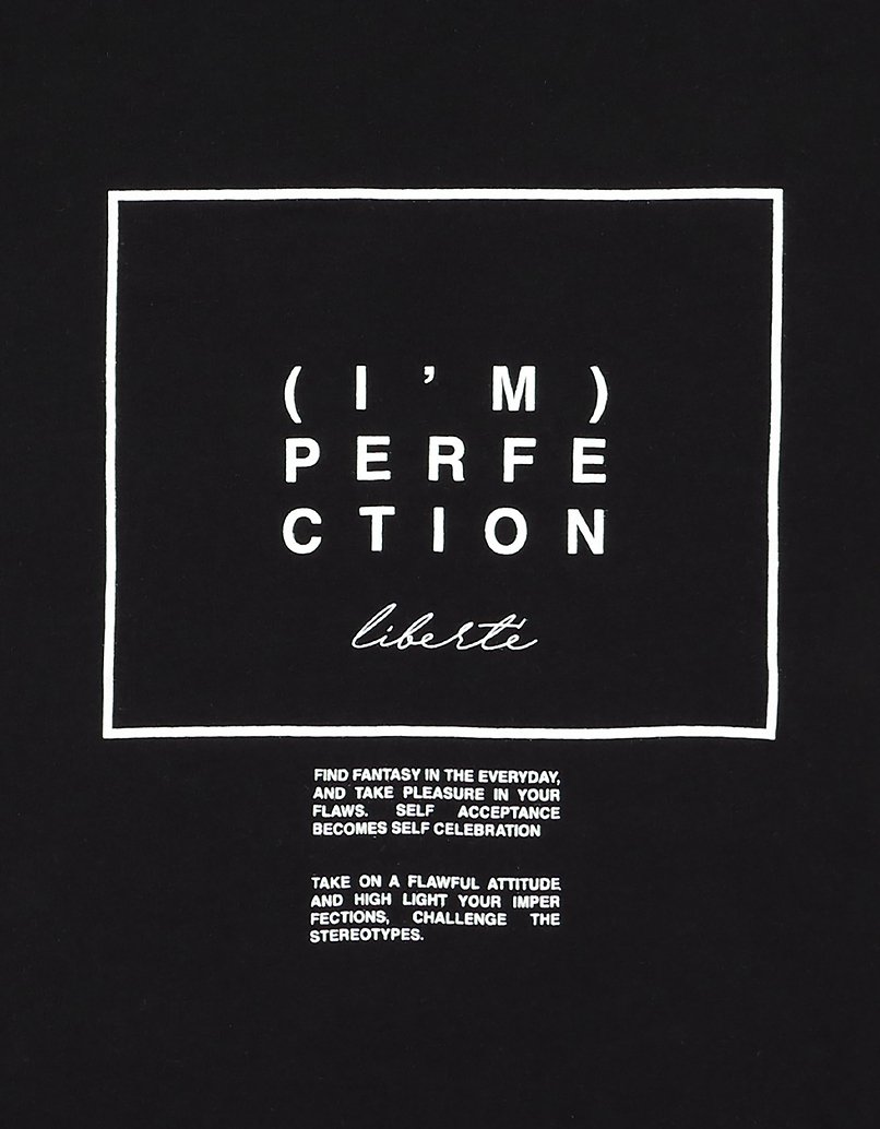 Black Slogan T-Shirt