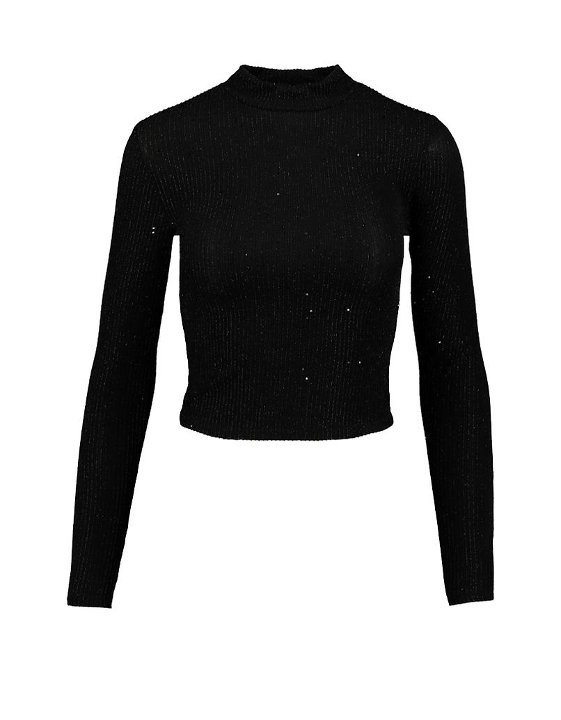 Black Lurex & Glitters Top