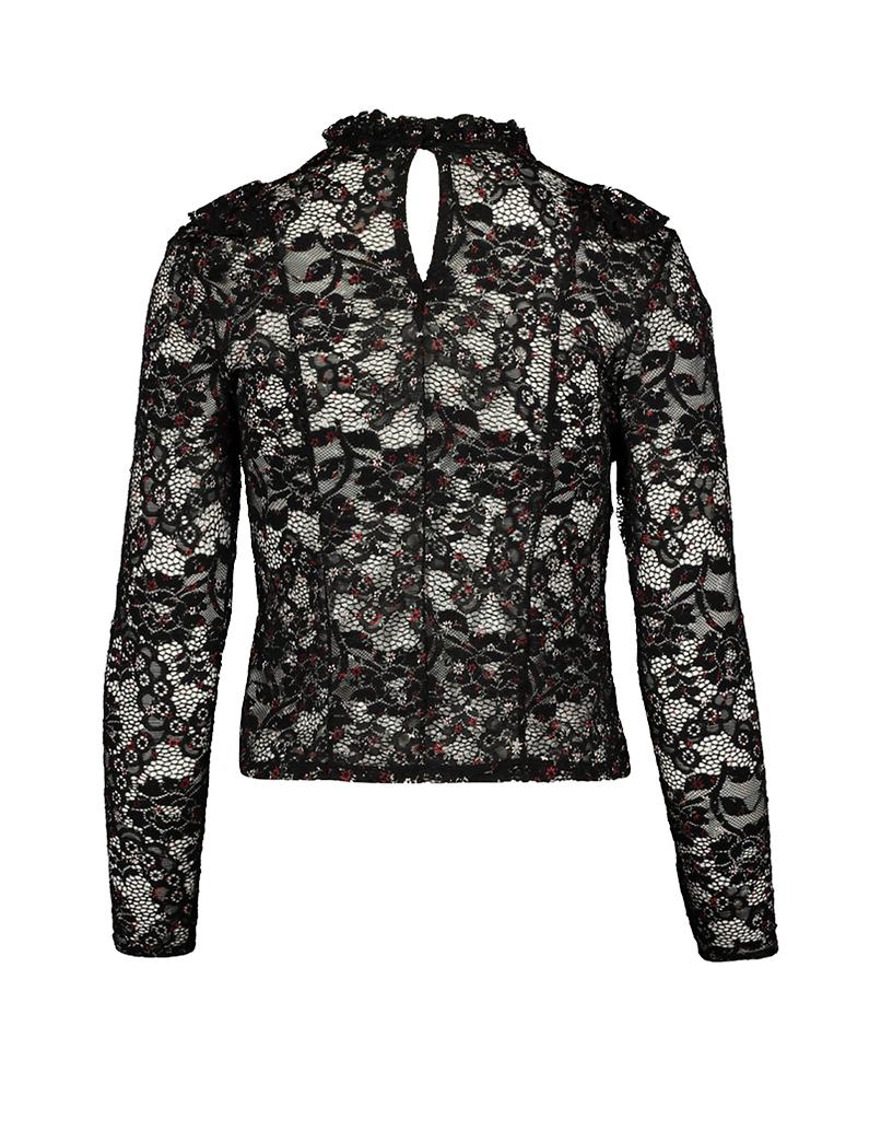 Black Floral Lace Top
