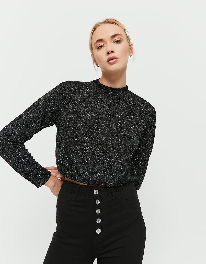 Black Glittered Top