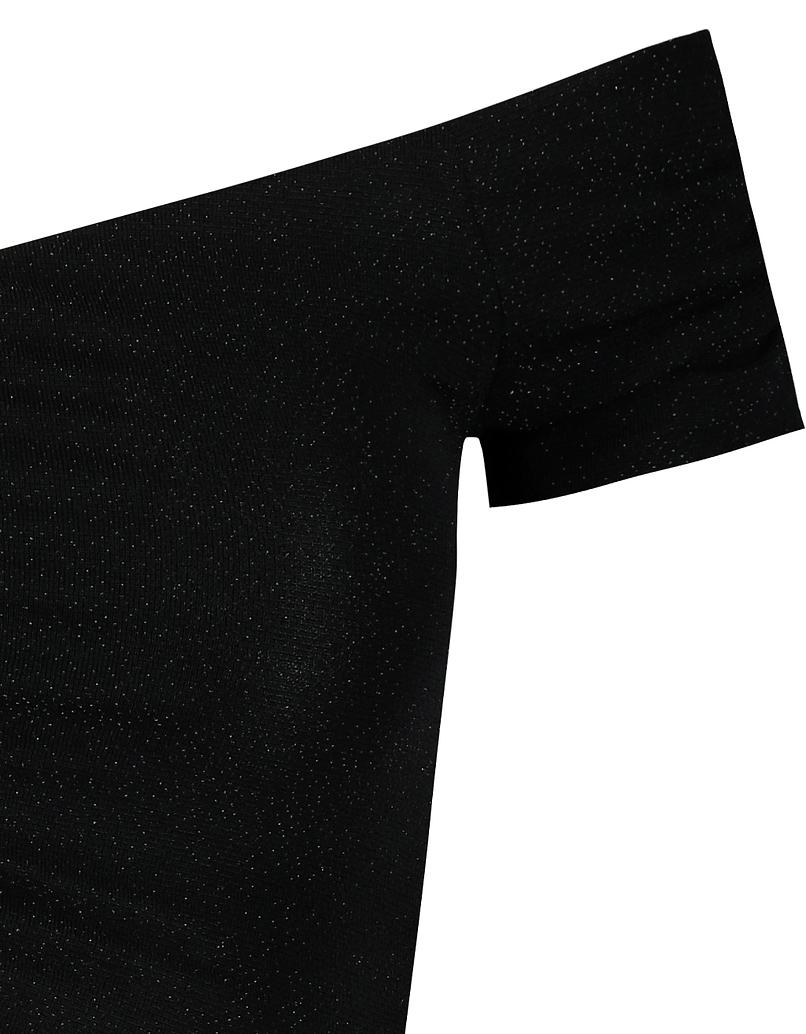 Black Off Shoulders Crop Top
