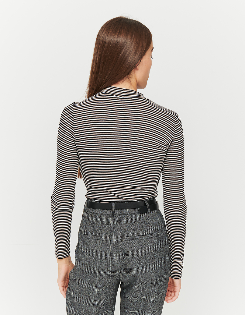 Striped Long Sleeves Top