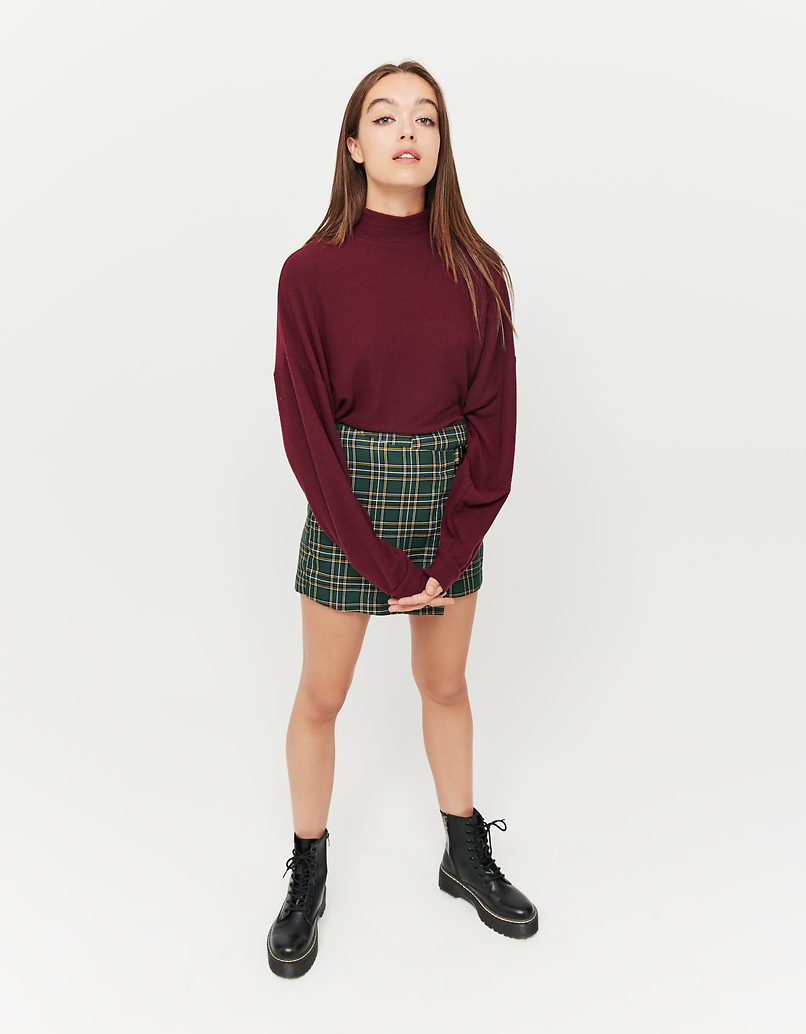 Burgundy Oversized Top