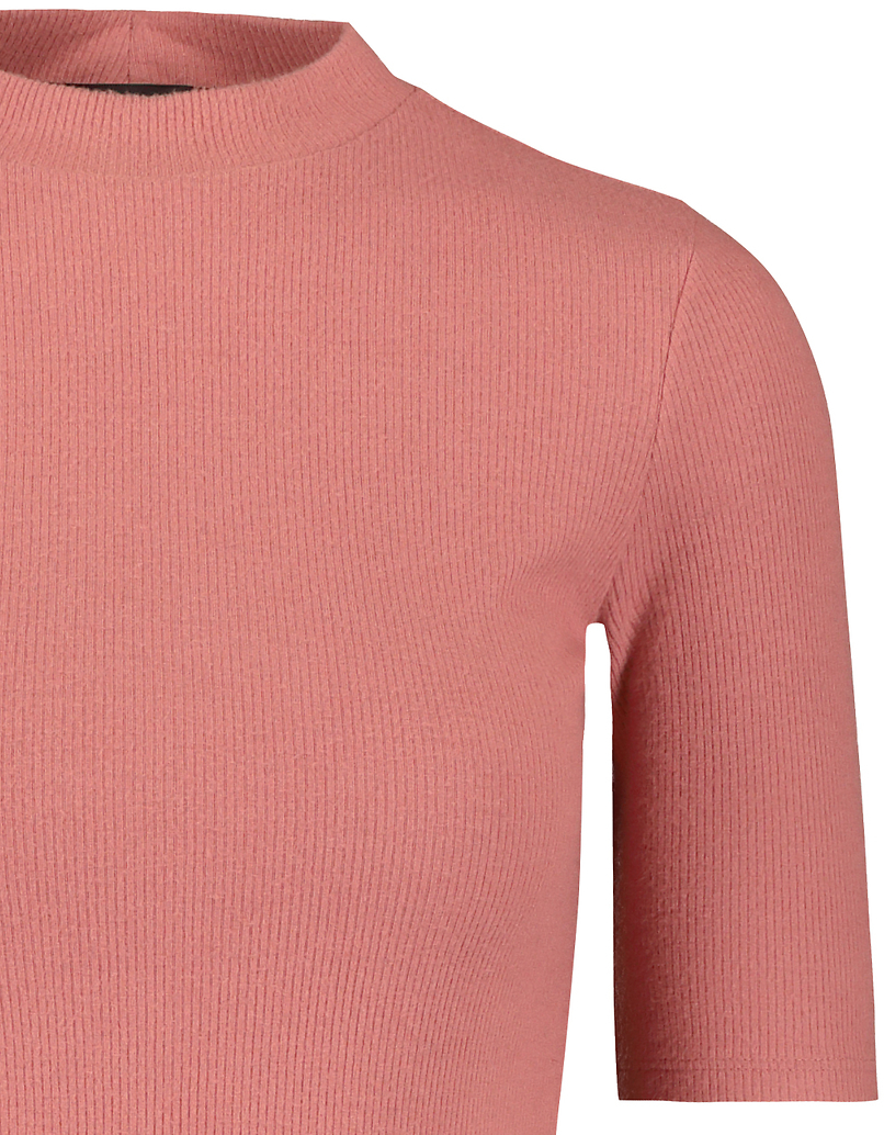 Pink Soft Touch Ribbed Top