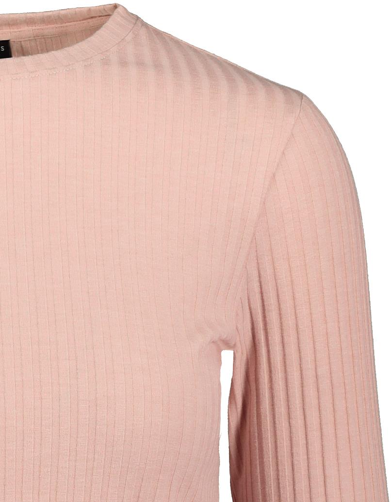 Pinkes Top mit gekräuselter Saum