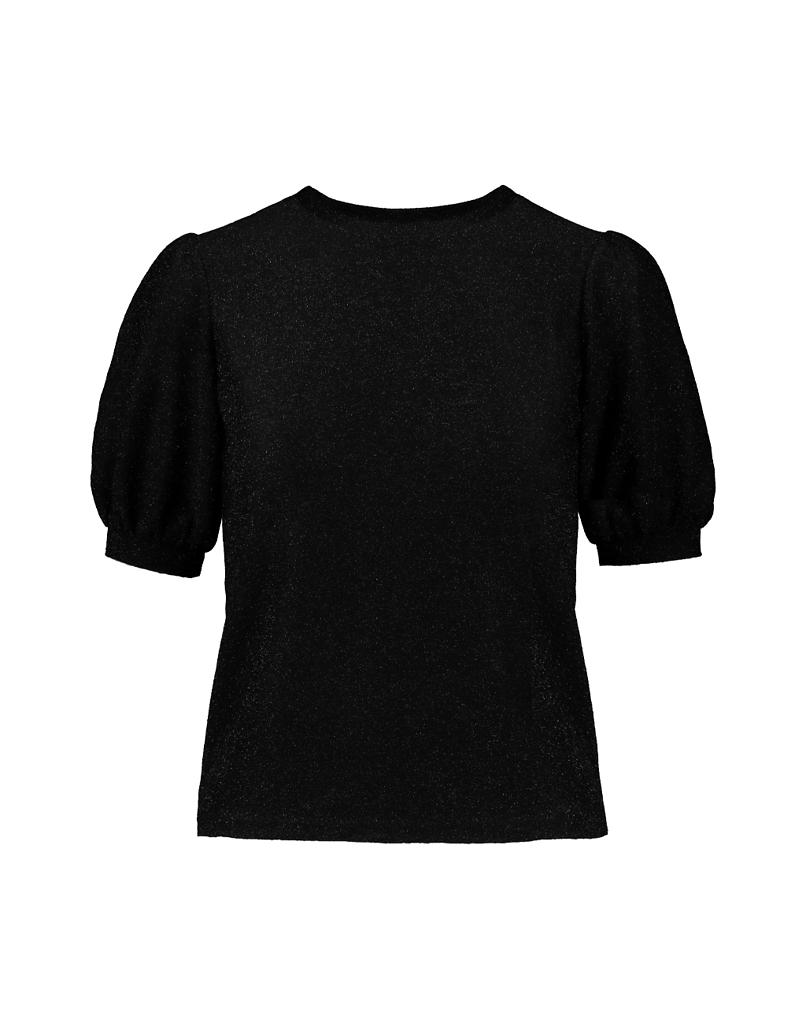Black Puff Sleeves Top