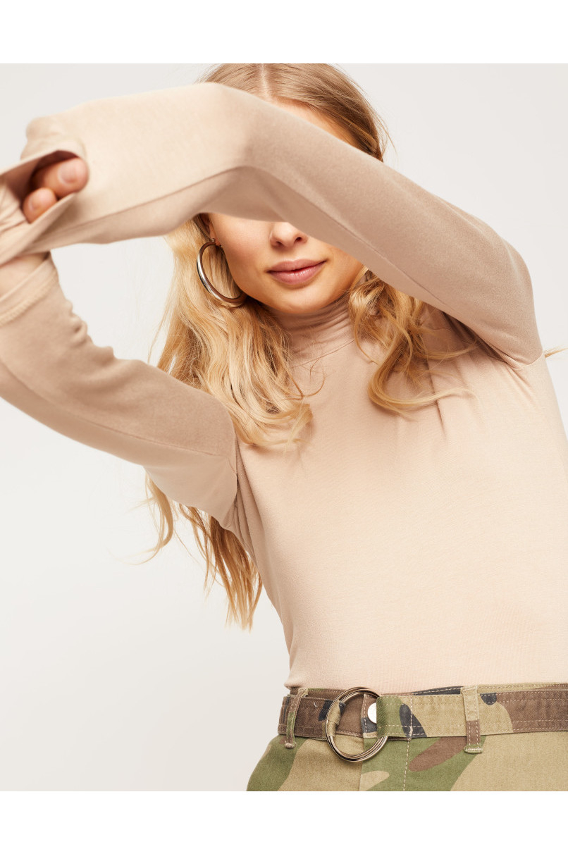 Beige Basic Top