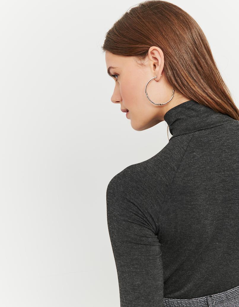 Grey Long Sleeves Top