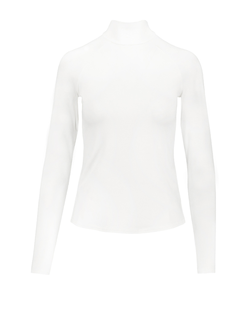 Off White Mock Neck Top