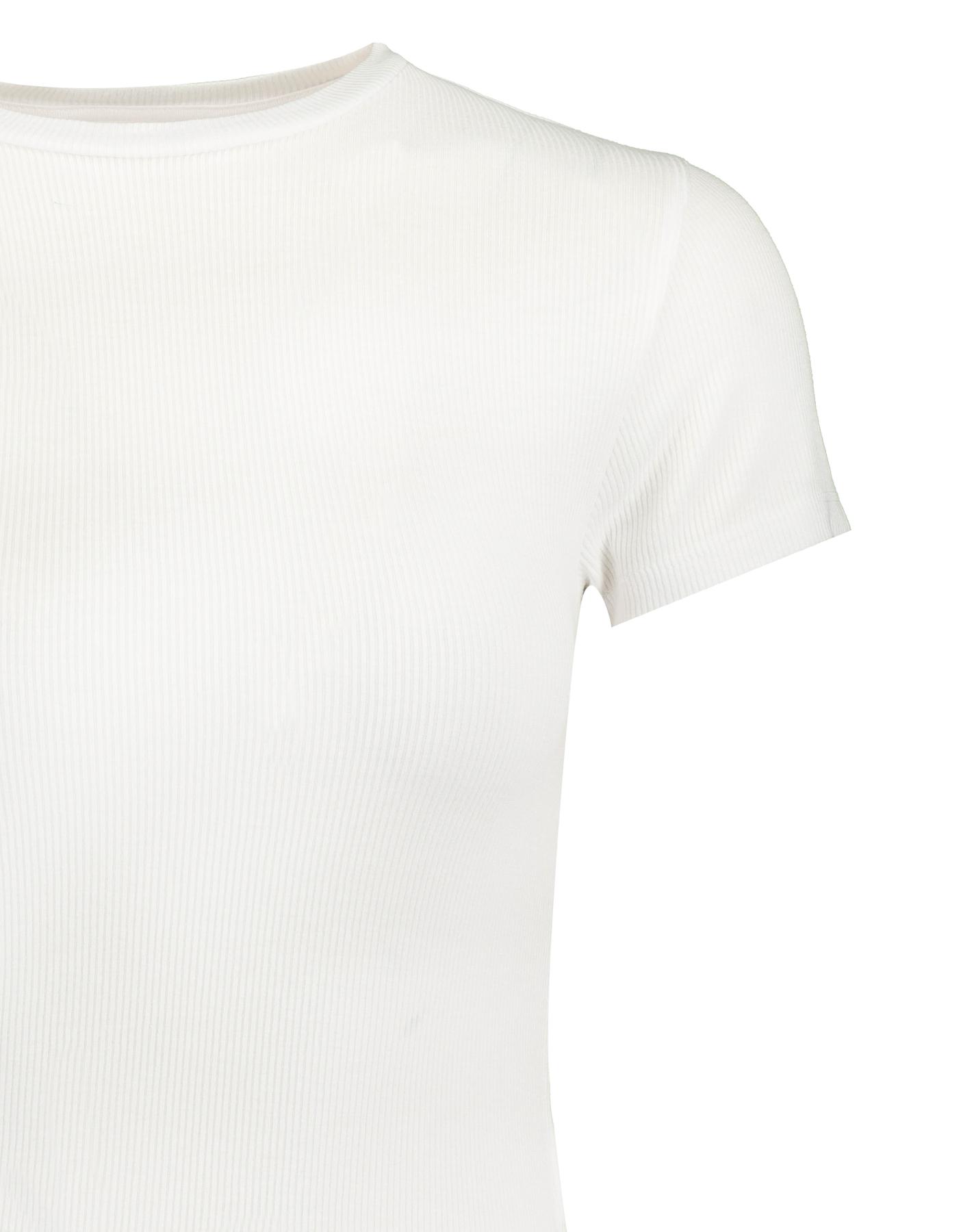 Weißes, geripptes Top