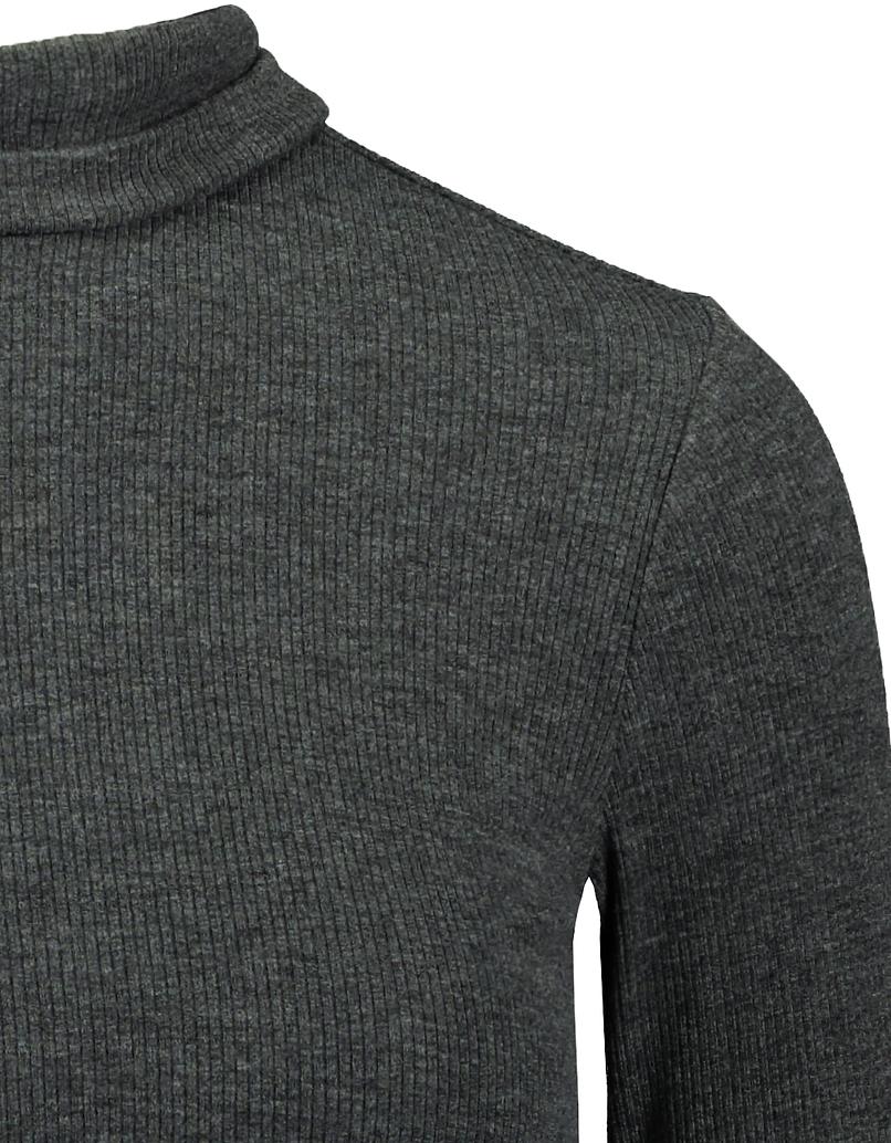 Dark Grey Mock Neck Top
