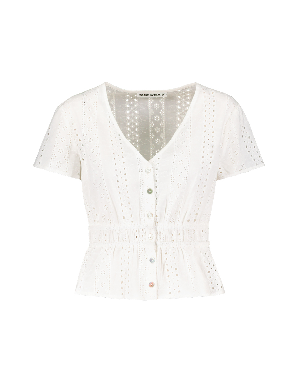 Top Blanc en Broderie Anglaise