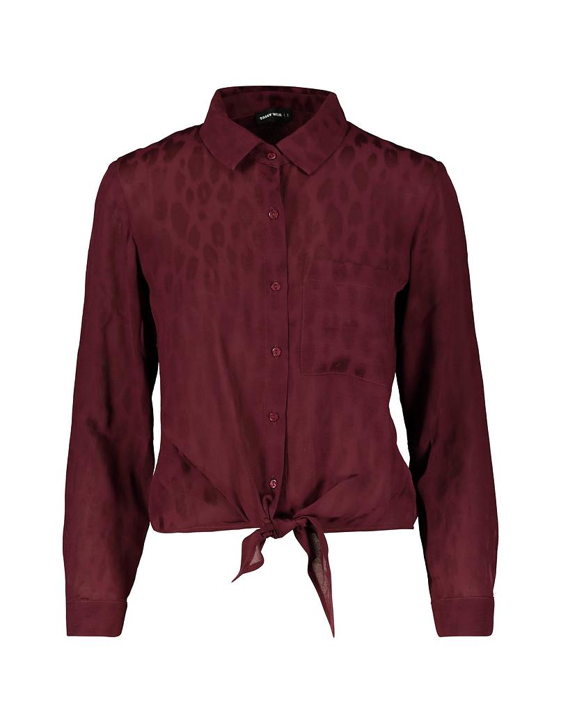 Bordeauxrotes Hemd aus Jacquard