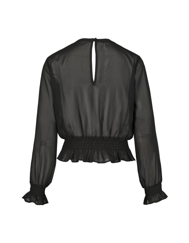 Black Transparent Blouse