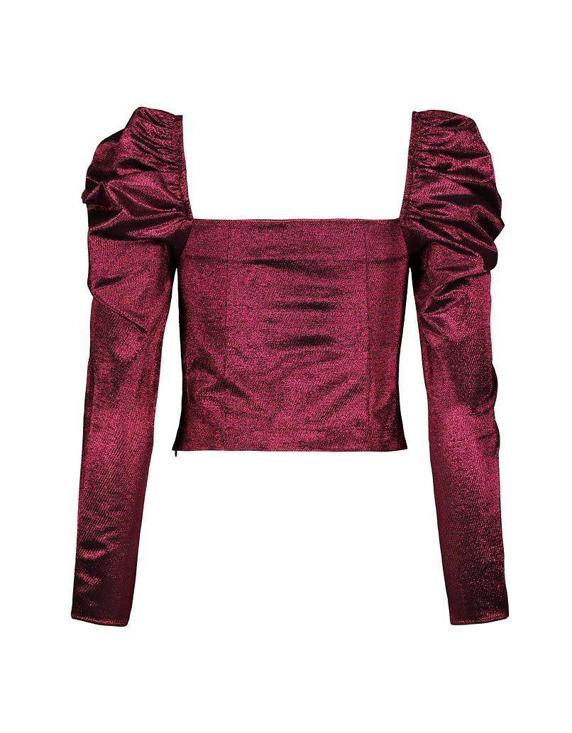 Różowa bluzka z tafty