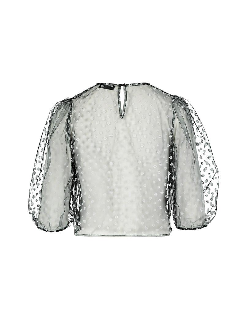 Blusa Corta Trasparente