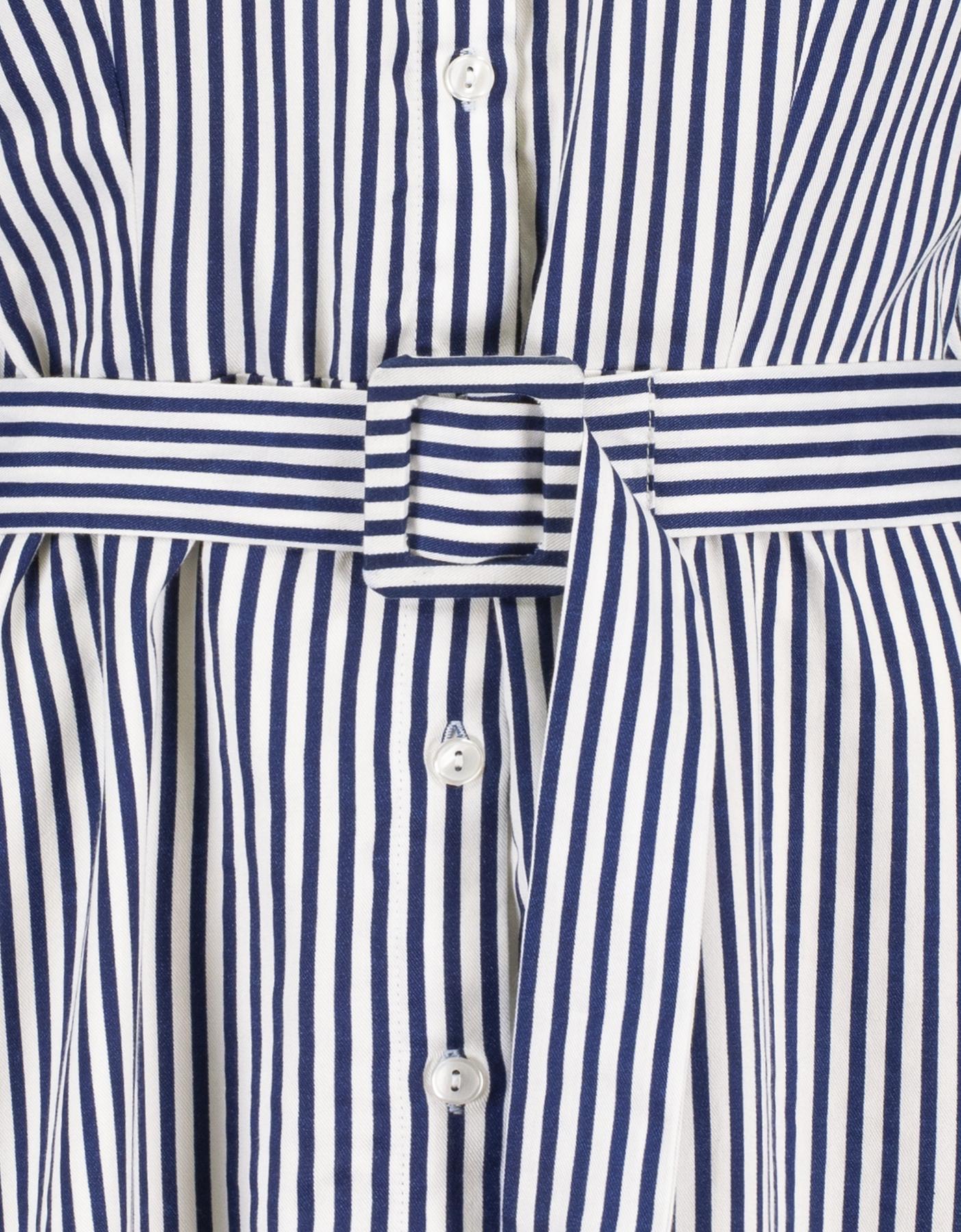 Robe Chemise Rayée Bleue
